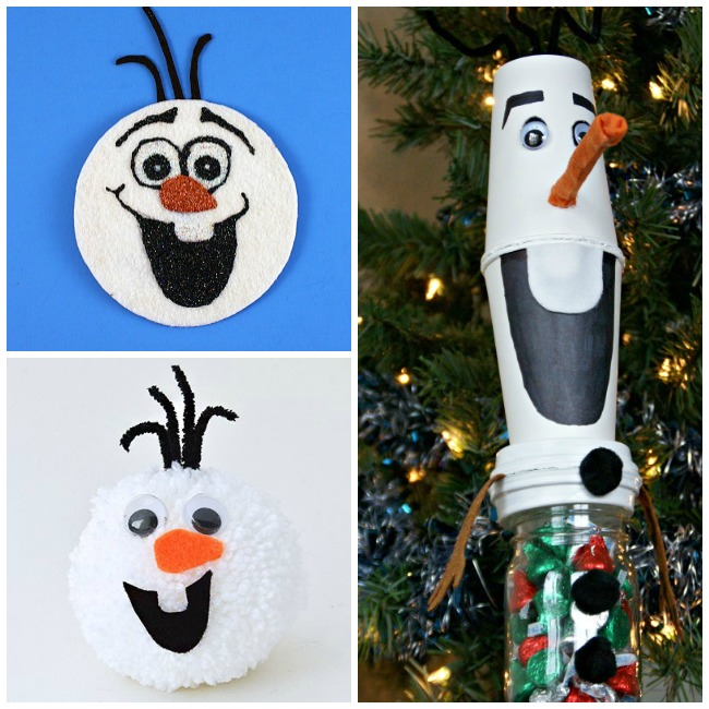Letter O Activities Olaf- olaf coaster, olaf pom pom, and olaf christmas ornament filled with hershey kisses