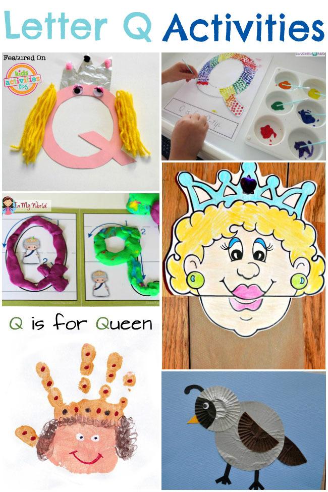 Letter Q Section  DLTKs Educational Activities for Children