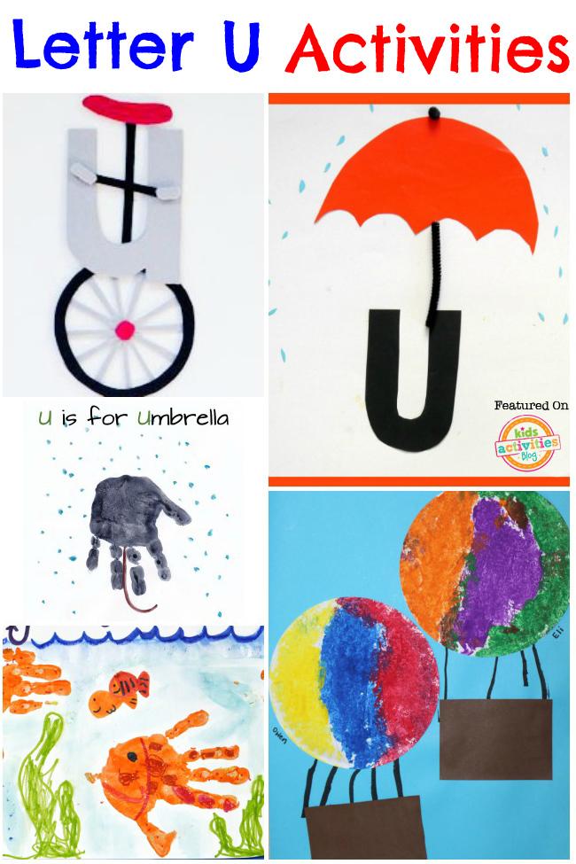 13 Letter U Activities