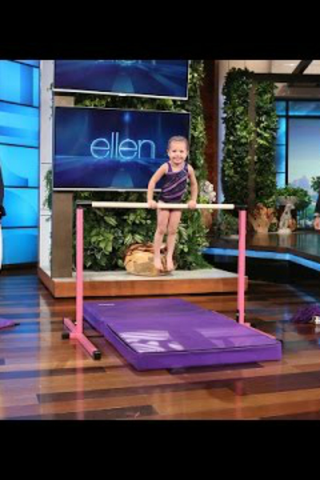 little girl gymnast Ellen