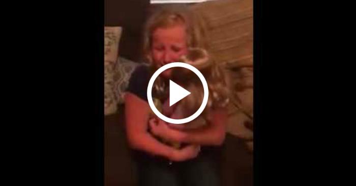 little girl with prosthetic leg receives doll