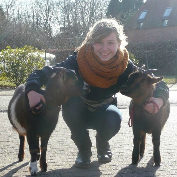 marie with two of her goats