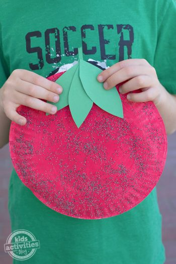 Paper Plate Strawberry Craft