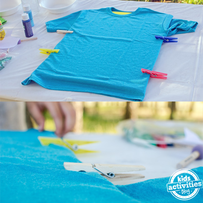 diy stamped tshirt