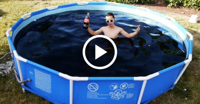 swimming in coke
