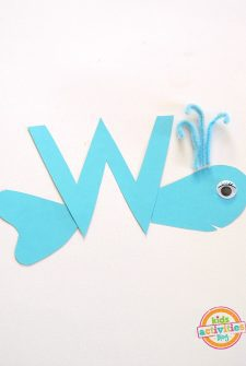 W is for Whale. Letter W Craft.