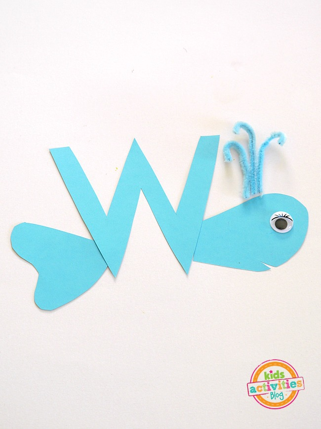 Letter W Crafts for preschool or