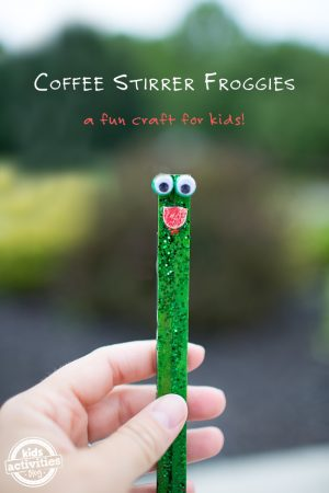 coffee stirrer frogs