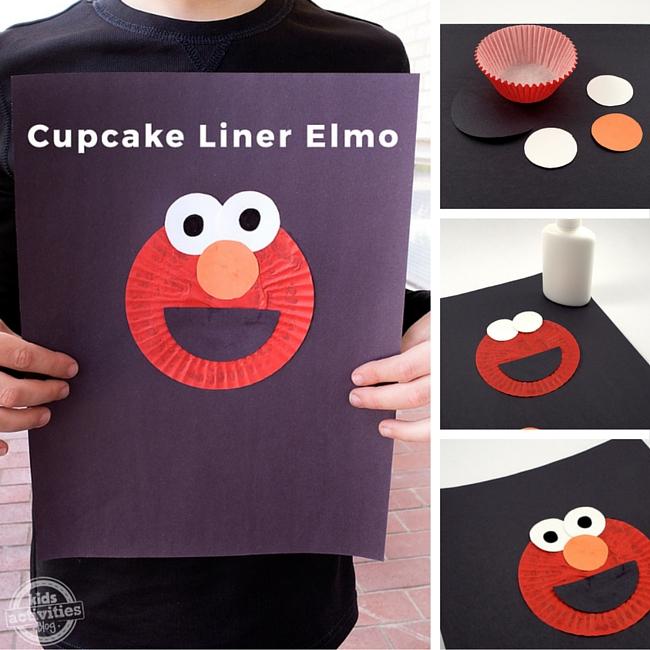 Cupcake Liner Elmo