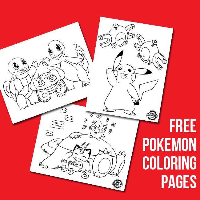 pokemon coloring sheets