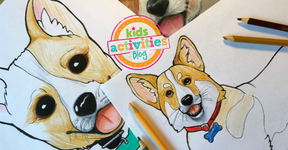 Corgi Coloring Pages For Kids