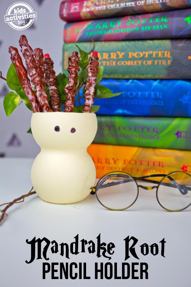 Harry Potter Craft Mandrake Root Pencil Holder