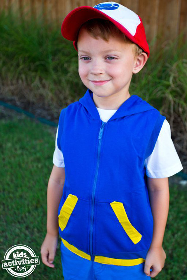 No Sew Pokemon Ash Ketchum Costume