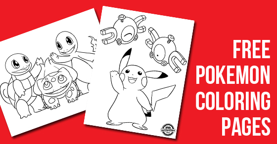 Pokemon Coloring Pages Free Download Kids Activities Blog