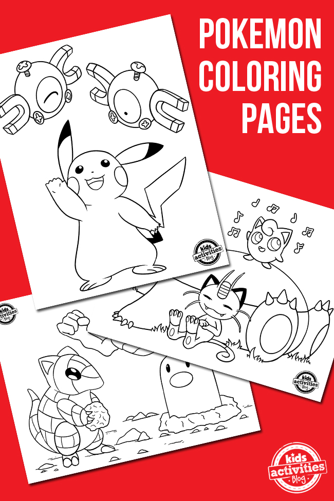 free pokemon coloring pages - Pokemon Coloring Books