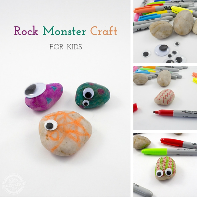 Rock Monster Craft Collage