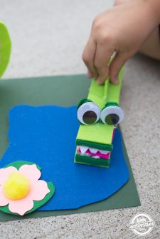 Extra Large Clothespin Crocodile Craft for Kids