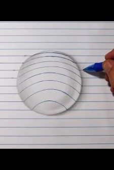 Easy: How To Draw A 3D Ball Using Lines!