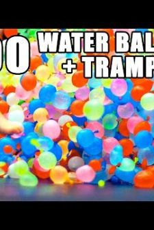 Our New #SummerGoals Now Include Jumping On A Water Balloon Covered Trampoline!