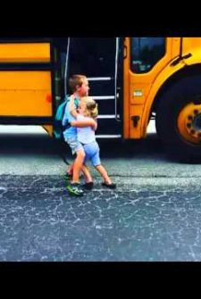 When Big Brother Gets Off The Bus, You Won't BELIEVE What Little Sister Does!