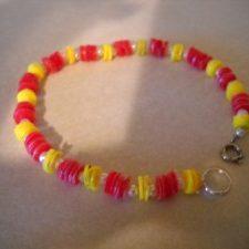 Handmade Recycled Bead Bracelet