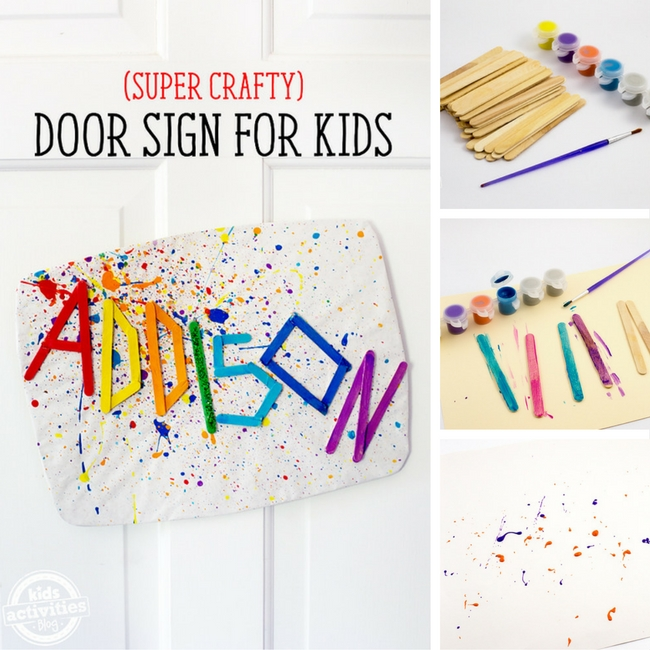 Crafty Door Sign for KidsKids of all ages, but tweens especially, will love making this super crafty DIY Door Sign for kids! It's colorful, bright, and fun! Let's get crafty!
