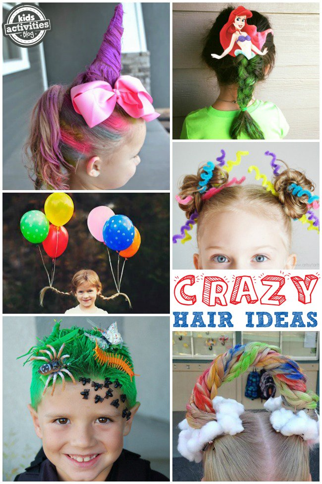 Crazy hair day ideas for school for 101 crazy crafting ideas