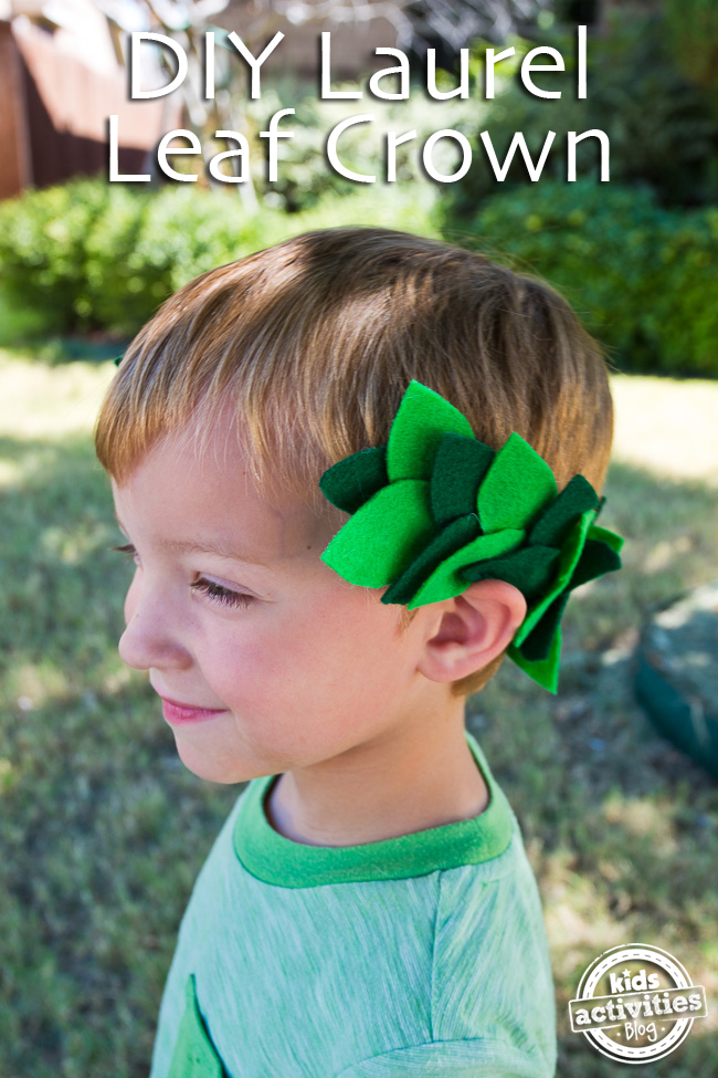 DIY Laurel Leaf Crown