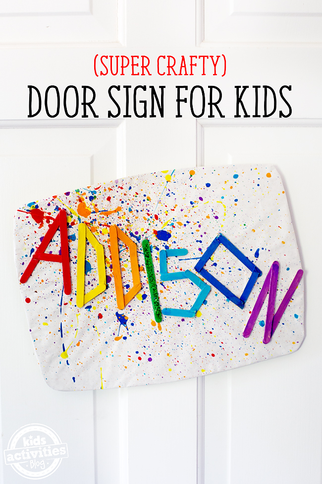 Kids of all ages, but tweens especially, will love making this super crafty DIY Door Sign for kids! It's colorful, bright, and fun! Let's get crafty!