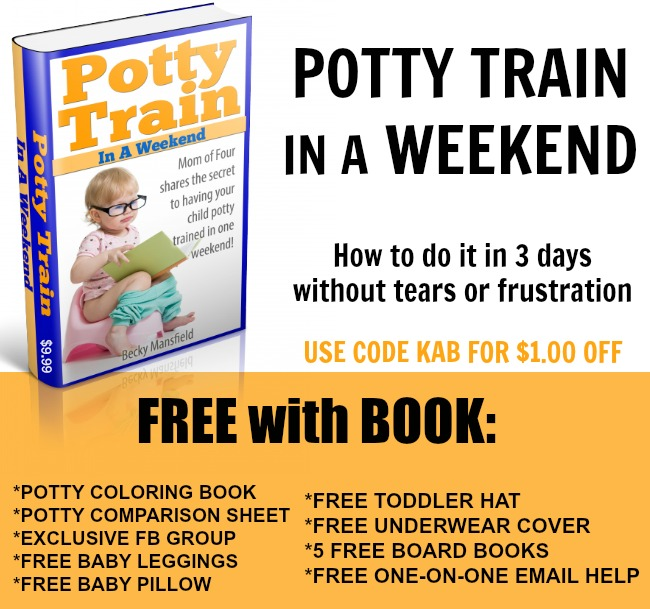 FREE WITH POTTY TRAIN BOOK