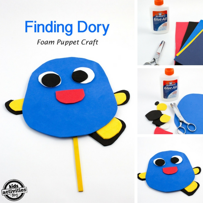 Finding dory puppet for Finding dory crafts for preschoolers