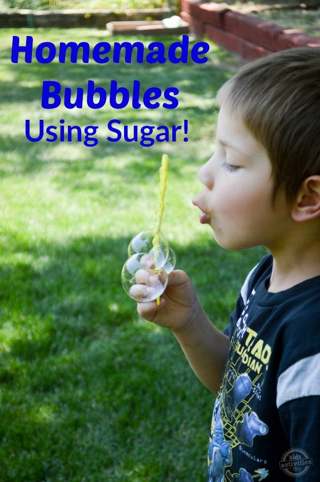 Homemade Bubbles Using Sugar