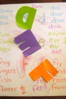 Letters: D, E & F