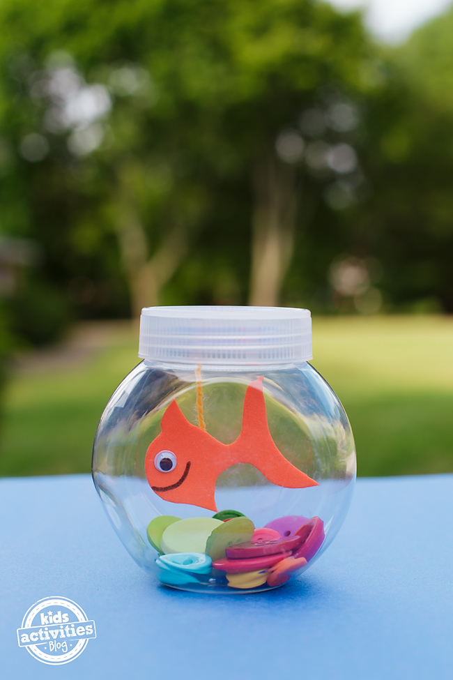 Mini fishbowl craft for kids for Fish bowl craft