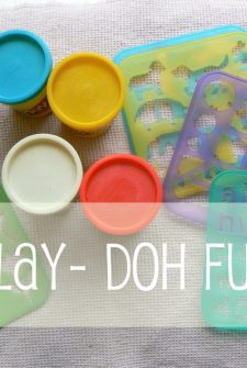 Play-doh Ideas: Use Stencils