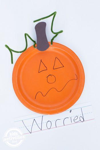 Paper Plate Feelings Pumpkin