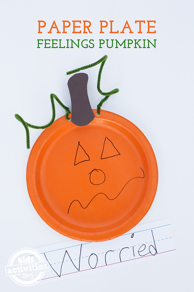 Halloween is the perfect season to talk about feelings with children. Paper Plate Feelings Pumpkins will help you do just that in a fun, creative way!
