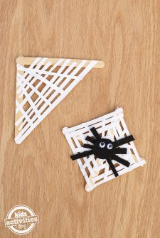 Paper Strip Spider Web Craft