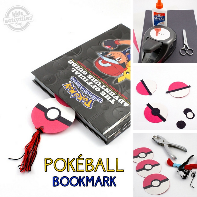 Pokéball Bookmark - Perfect for your child's Pokémon book collection!