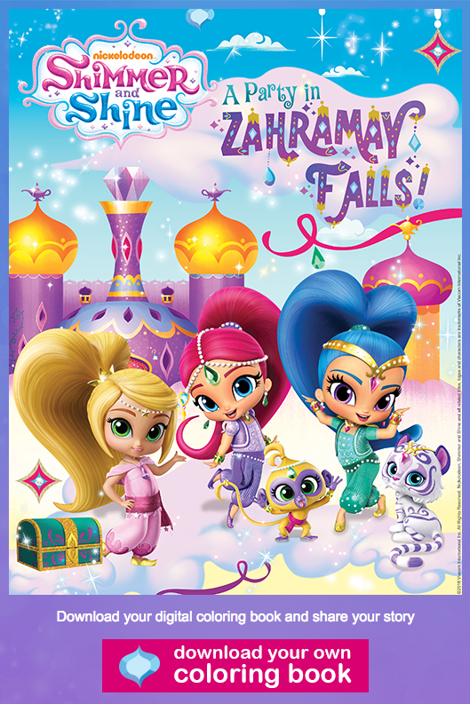 FREE Shimmer and Shine Coloring Book