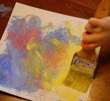 Painting with Shaving Cream: Frugal Crafting