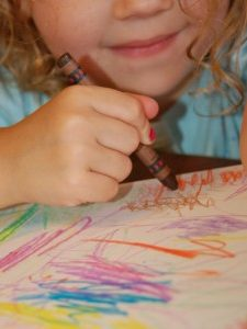 Crayon Painting with Preschoolers