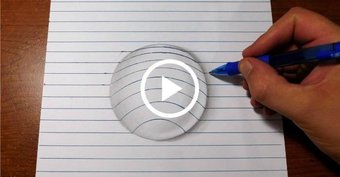 drawing a 3d ball