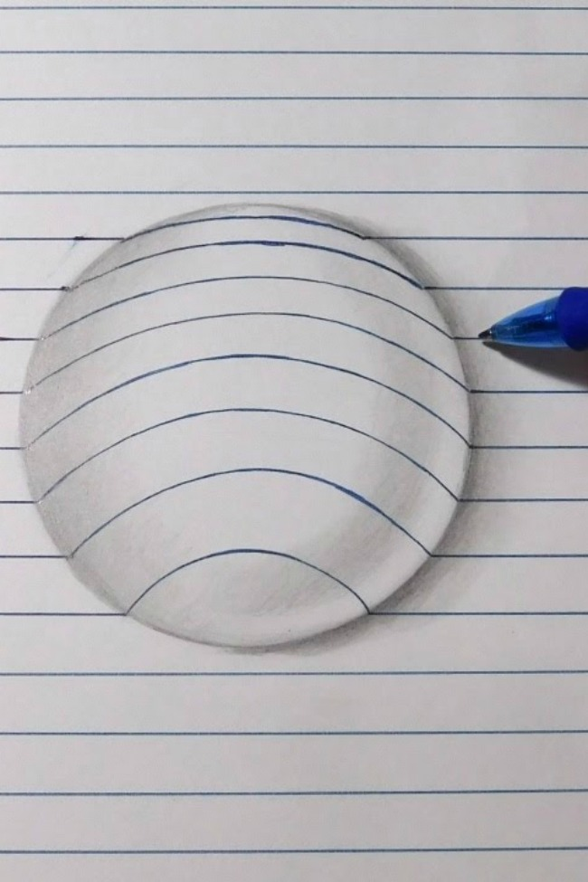 Simple Drawing Using Lines : Easy how to draw a d ball using lines