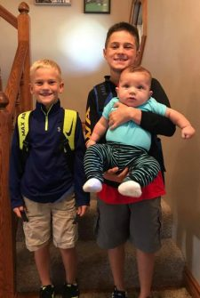 Brothers Overjoyed When Parents Surprise Them With An Adopted Baby