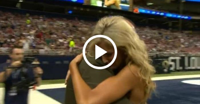 marine husband returns to cheerleader wife
