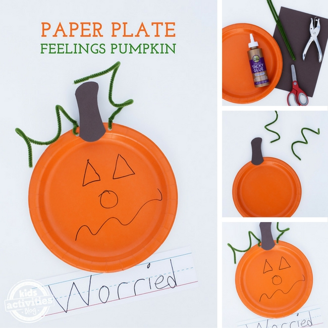 Paper Plate Feelings Pumpkin