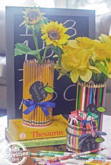 Back to School Pencil Vase Craft