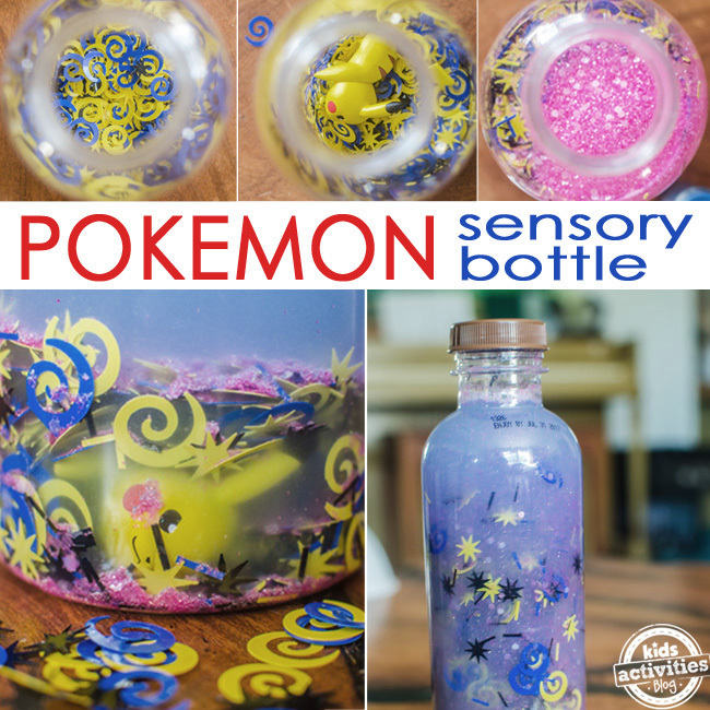 pokemon sensory bottle SQUARE