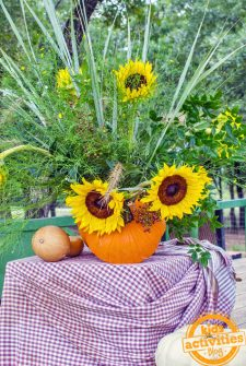 pumpkin autumn vase craft